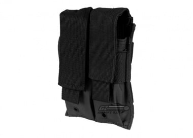 * Discontinued * NC Star Double Pistol Magazine Pouch ( Black )