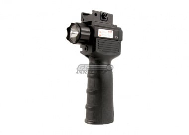 Vism QR Vertical Grip / Built In LED Flashlight & Red Laser