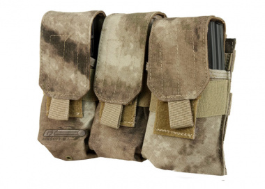 Condor Outdoor MOLLE Triple M4 / M16 Magazine Pouch ( A-TACS )