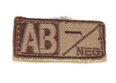 Condor Outdoor Velcro AB Negative Blood Type Patch ( Tan )
