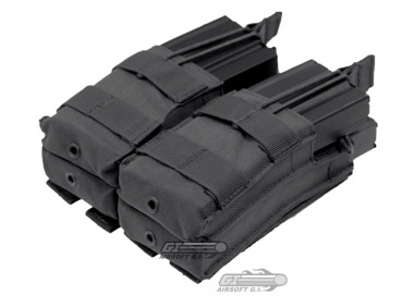 Condor Outdoor MOLLE Dual Open Top Stacker M4 / M16 Magazine Pouch ( Black )