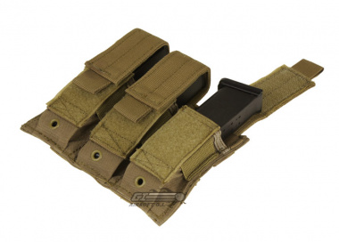 Condor Outdoor MOLLE Triple Pistol Magazine Pouch ( Tan )