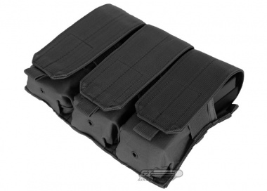Condor Outdoor MOLLE Triple M4 / M16 Magazine Pouch ( Black )