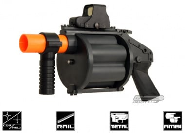Pro Arms 6 Shell Revolving Airsoft Grenade Launcher