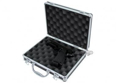 "P Force 12"" Chrome Pistol Gun Case"
