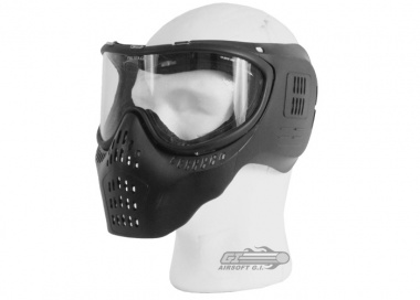 JT Tactical Airsoft Full Face Mask ( BLK / Clear )