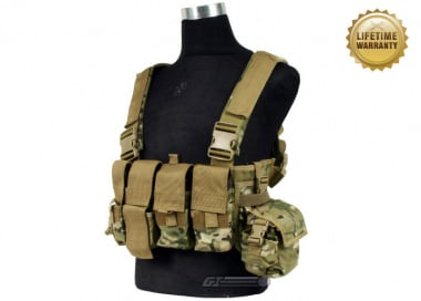 Pantac USA 1000D Cordura Active Shooter Chest Rig ( Multicam Tactical Vest  )