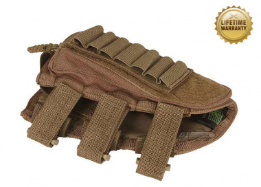 Pantac USA 1000D Cordura Stock Cheek Pad w/ Ammo Compartment ( Coyote )