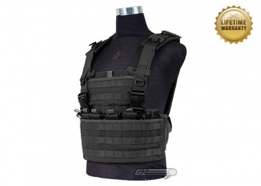 Pantac USA 1000D Cordura Molle MPS Chest Rig ( Black Tactical Vest  )