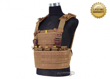 Pantac USA 1000D Cordura Molle MPS Chest Rig ( Coyote Tactical Vest  )
