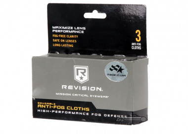 Revision Reusable Anti-Fog Cloths ( 3 Pack )