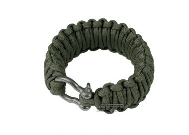 "Saved By A Thread Double Cobra Paracord Bracelet w/ Shackle ( OD / 6.5"" )"