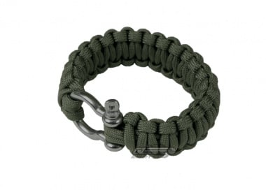 "Saved By A Thread Single Cobra Paracord Bracelet w/ Shackle ( OD / 6.5"" )"