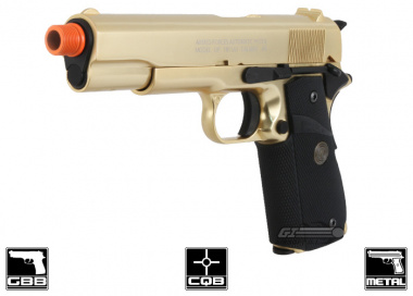 Socom Gear 24K Gold Plated M1911 Government Classic Airsoft Gun ( Limited Edition w/ Unique Serial Numbers )