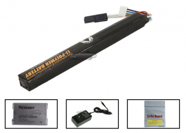 SOCOM Gear 11.1V 1000mah LiPo XCR Battery Package ( Battery , Charger & Liposack )