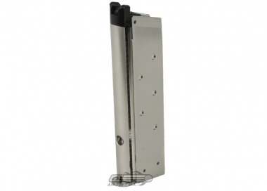 SOCOM Gear 15rd 1911 MEU / NOVAK Single Stack GBB Pistol Magazine ( Silver )