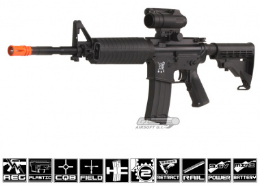 SRC M4A1 Airsoft Gun ( Black ) ( Battery & Charger Package )