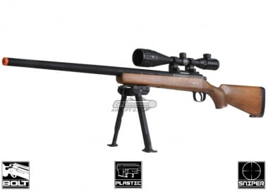 (Discontinued) TSD M700 Spring Rifle Airsoft Gun (Fake Wood)