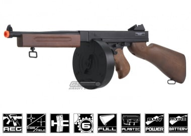 Fire Power Thompson M1A1 w/ Drum Magazine Eco-Line Airsoft Gun