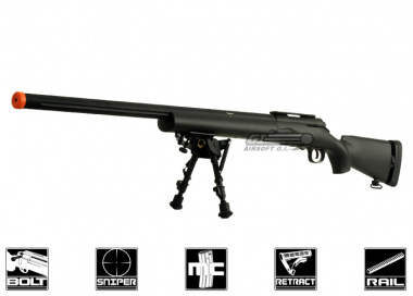 CYMA Full Metal M24 Bolt Action Sniper Rifle Airsoft Gun ( BLK / Bipod Package )