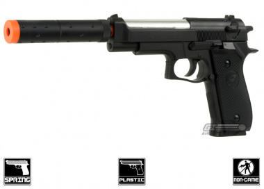 CYMA Special Force M9 w/ Barrel Extension Spring Pistol Airsoft Gun ( M22/ 2-Tone )
