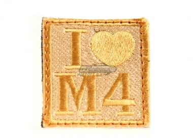 UK Arms I Heart M4 Velcro Patch ( Tan )