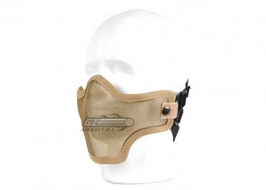 UK Arms Tactical Metal Mesh Half Mask ( Tan )