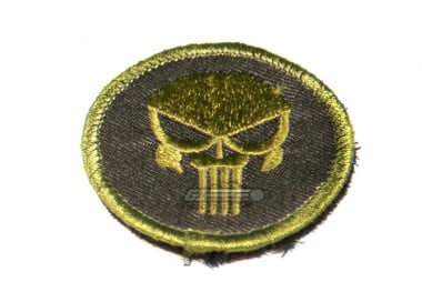 Punisher Skull Circle Velcro Patch ( Black and OD )