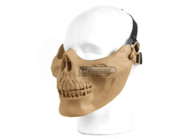 UK Arms Tactical Skull Half Mask ( Tan )