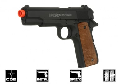 * Discontinued * UTG Full Metal Tactical 1911 Spring Airsoft Gun ( 2 Magazines )