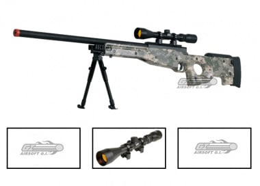 UTG Full Metal MK96 Bolt Action Sniper Rifle Airsoft Gun ( ACU / Scope Package / Online ONLY )