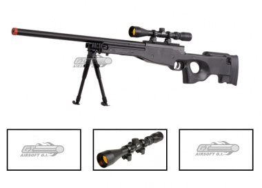 UTG Full Metal MK96 Bolt Action Sniper Rifle Airsoft Gun ( BLK / Scope Package / Online ONLY )
