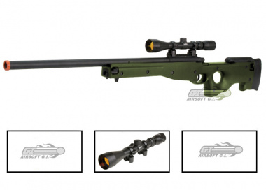 AGM Full Metal MK96 AWP Bolt Action Sniper Rifle Airsoft Gun ( OD / Scope Package )