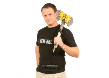 "VIP Bob ""The Axe Man"" Nerf Kill T-Shirt ( Black & White / X-Large )"