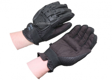 V-Tac Armored Full Finger Gloves ( Black / Small )