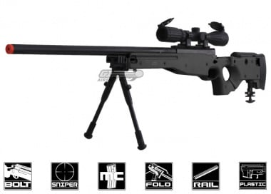Well Full Metal MB08 Bolt Action Sniper Rifle Airsoft Gun ( BLK / Folding Stock )