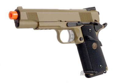 WE Full Metal 1911 MEU Desert Warrior Airsoft Gun ( Railed Version )
