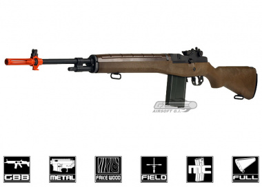 WE Full Metal / Fake Wood M14 GBB Rifle Airsoft Gun