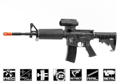 WE Full Metal M4-A1 AEG Airsoft Gun