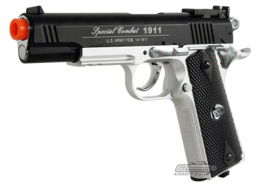 WG Full Metal Slide Xtreme 1911 CO2 Airsoft Gun ( Two Tone )