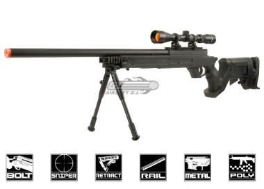 Well AWM APS2 Bolt Action Sniper Rifle Airsoft Gun ( Scope / Bipod Package )