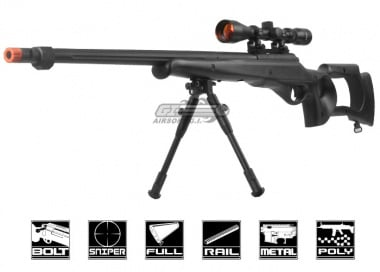 Well AWM G22 Spring Sniper Rifle Airsoft Gun( Scope / Bipod Package )