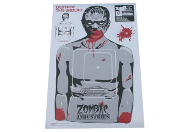 "Zombie Industries Colossal Paper Target 23x35"" - Chris Zombie 25 Pack"