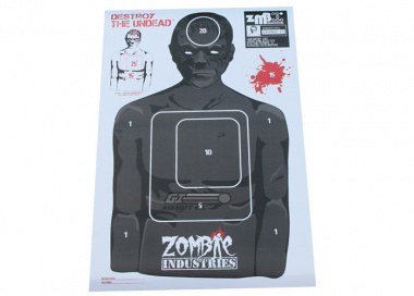 "Zombie Industries Indoor Paper Target 17.5x23.5"" - Ivan Zombie 25 Pack"