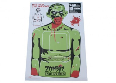 "Zombie Industries Colossal Paper Target 23x35"" - Rocky Zombie 25 Pack"