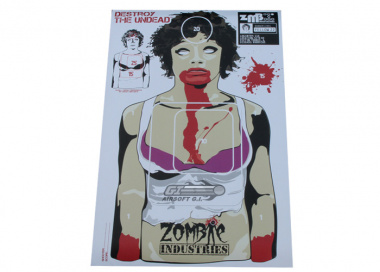 "Zombie Industries Colossal Paper Target 23x35"" - The Ex Zombie 25 Pack"