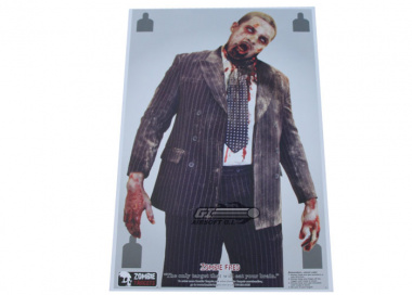 "Zombie Industries Zombie Targets 23x35"" Paper Target - ""Fred"" 25 Pack"