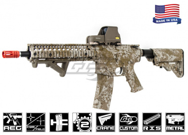 Airsoft GI FMG4-18 Daniel Defense RIS Short Next Gen. Carbine AEG Airsoft Gun ( Hydro-Dipped Desert Digital )