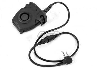 Lancer Tactical Push-To-Talk (PTT) for Motorola 2 Pin Version ( Black / Type A )