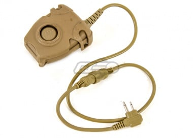 Lancer Tactical Push-To-Talk (PTT) for Motorola 2 Pin Version ( Dark Earth / Type A )